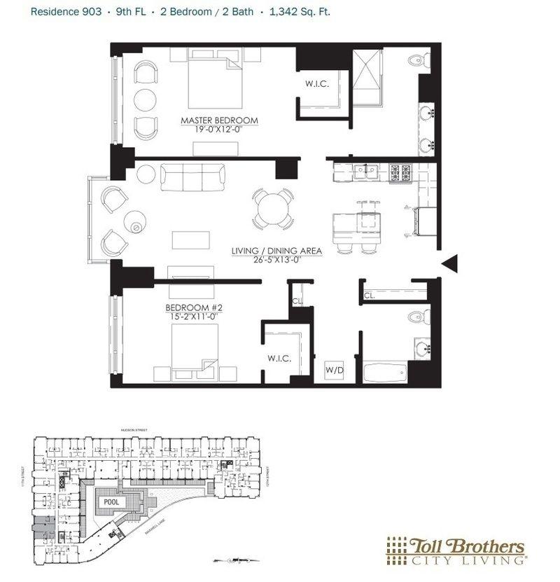 Apartments For Sale Hoboken: 1100 Maxwell Lane #903 In Hoboken, New Jersey