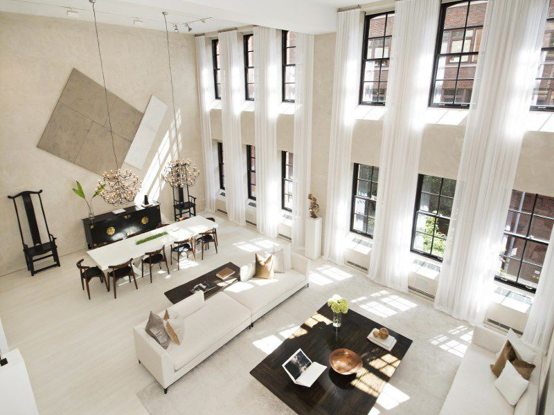 extraordinary new york loft living room | StreetEasy: 43 Clarkson Street in West Village, #2/3/4A ...