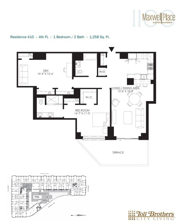 Apartments For Sale Hoboken: 1100 Maxwell Lane #410 In Hoboken, New Jersey