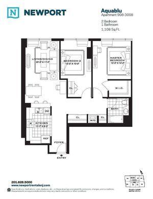 Streeteasy Aquablu At 110 River Drive In Newport 1508 Sales Rentals Floorplans Streeteasy