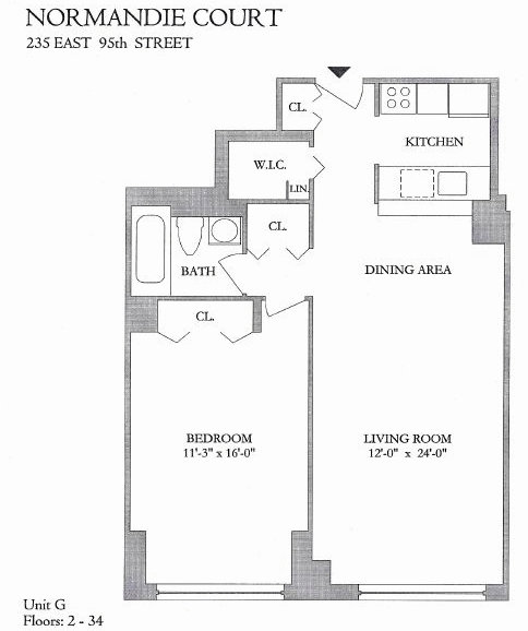 Streeteasy normandie court at 225 east 95th street in for 125 court street floor plans