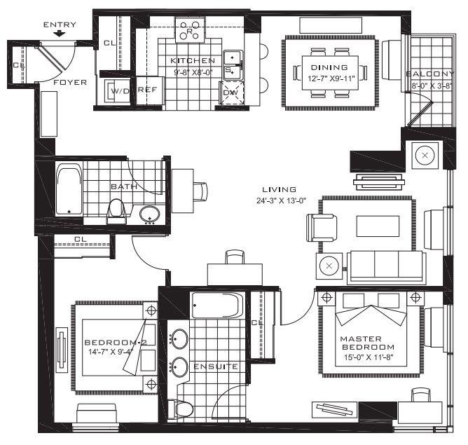 Streeteasy Aquablu At 110 River Drive In Newport 403 Sales Rentals Floorplans Streeteasy